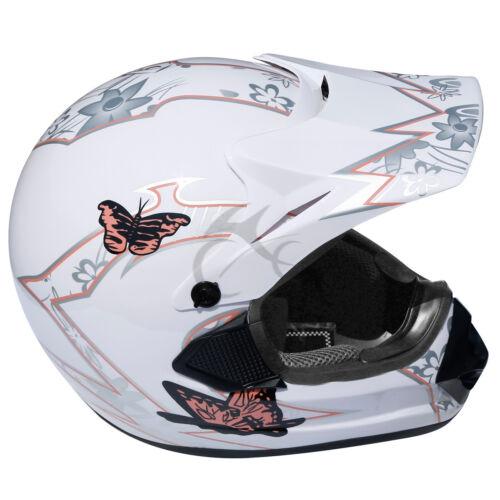 DOT Adult Youth Dirt Bike ATV Motocross Helmet Goggles w// Gloves Motorcycle