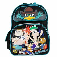 """Disney Phineas and Ferb Large Backpack Boys School Book Bag 16"""" inches"""
