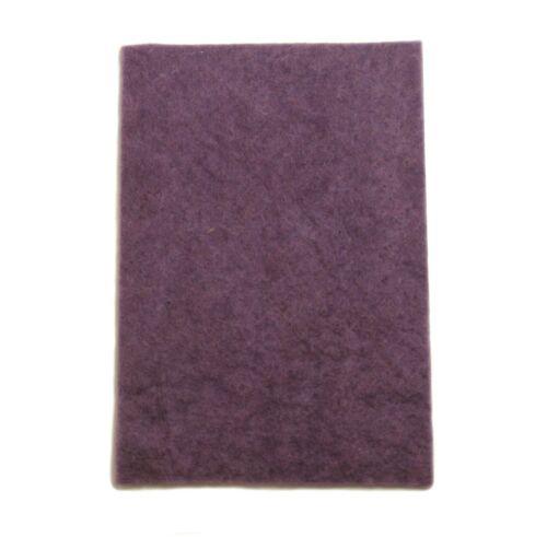 Dicke ca Bastelfilz Dekofilz Filzplatte 100/% Wolle Pflaume 20 x 30cm 5mm