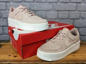 premium selection b3d2c 721cc Details about NIKE LADIES AIR FORCE 1 SAGE LOW PARTICLE BEIGE PINK TRAINERS  VARIOUS SIZES £85