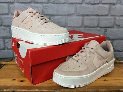 NIKE LADIES AIR FORCE 1 SAGE LOW PARTICLE BEIGE PINK TRAINERS VARIOUS SIZES £85 | eBay