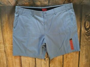 Foundry Men/'s Flex Comfort Flat Shorts Stretch Big and Tall Silver Lake Blue