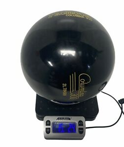 VINTAGE-Columbia-300-Black-PRO-HOOK-15lb-Bowling-Ball-UN-DRILLED-NEW-OLD-STOCK