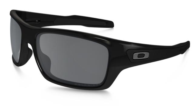 Nuovo Oakley Polarizzati Turbina - Occhiali da Sole Nero Opaco/Grigio OO9263-07