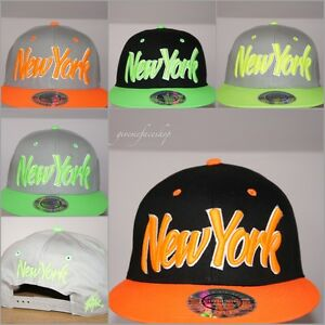 787a32dfd4c Image is loading NY-MENS-LADIES-SNAPBACK-CAPS-FLAT-PEAK-FITTED-