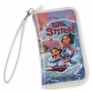 Disney Parks Lilo and Stitch VHS Zipper Case Wristlet Clutch Wallet NEW