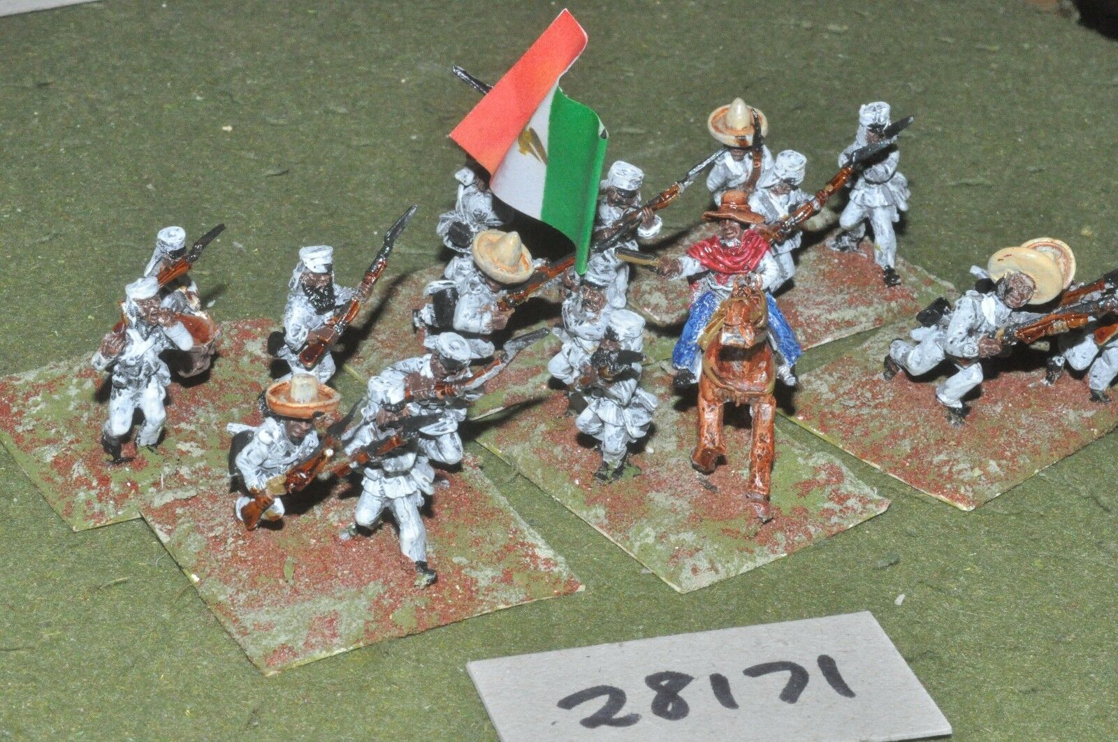 25mm 25mm 25mm colonial   mexican - maximillian adventure regulars 18 figs - inf (28171) 6b5
