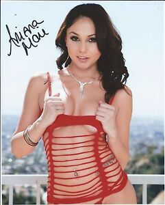Image Is Loading Ariana Marie In Red Fishnet Hand Signed 8x10