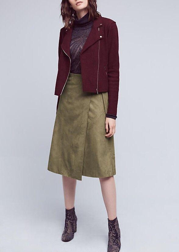 ANTHROPOLOGIE Maeve Ariana Vegan Leather Wrap Skirt NwT S M L