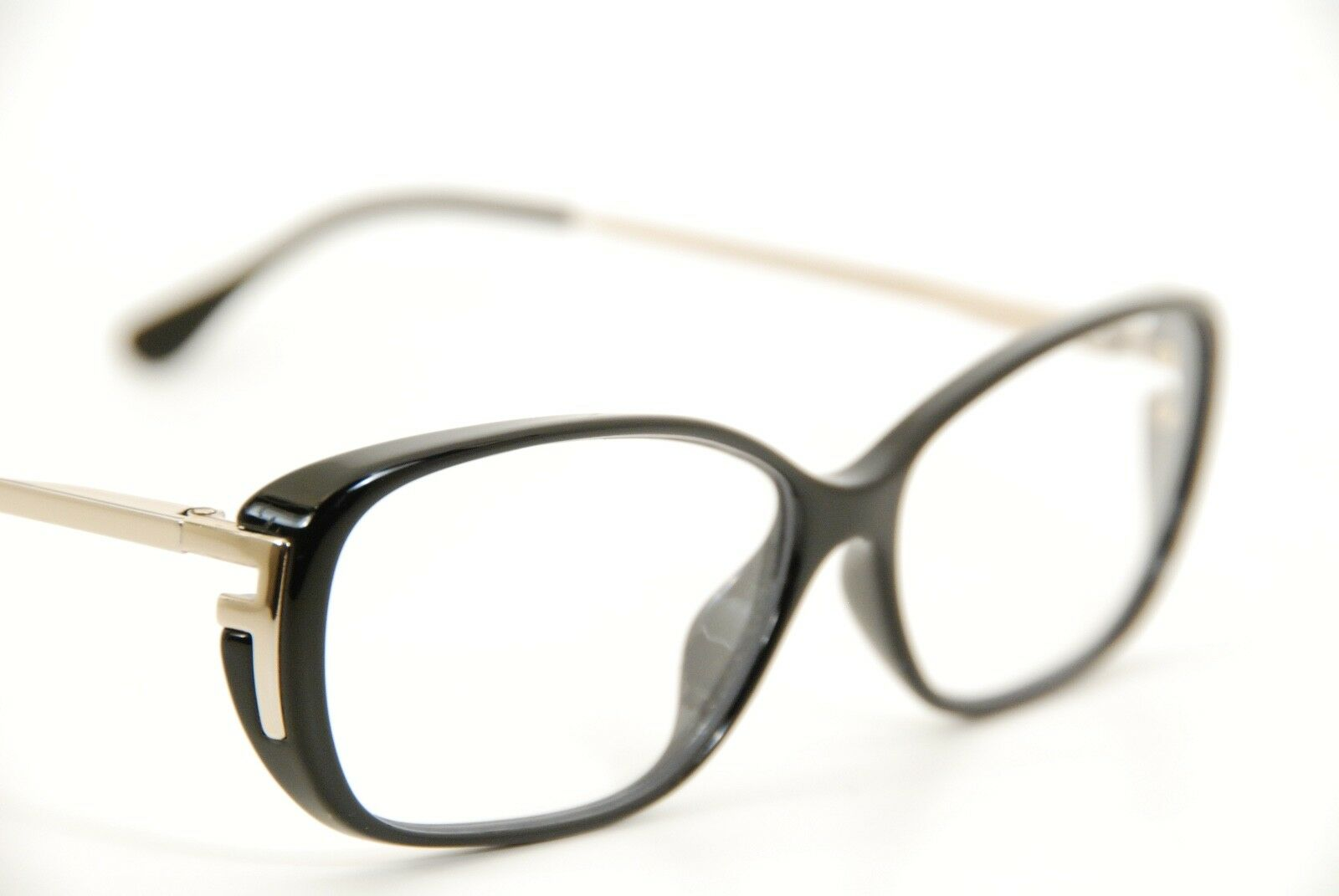 1ba03f268e1 Authentic Fendi F 969 001 Black pale Gold 55mm Frames Eyeglasses Italy RX  for sale online