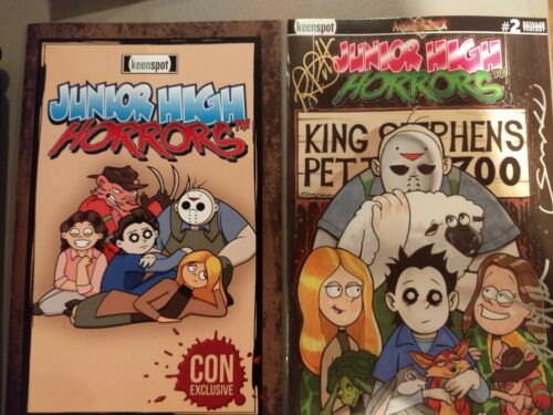 only 100 printed! Junior High Horrors #2 Arkham Comix Variant AND SDCC Ashcan