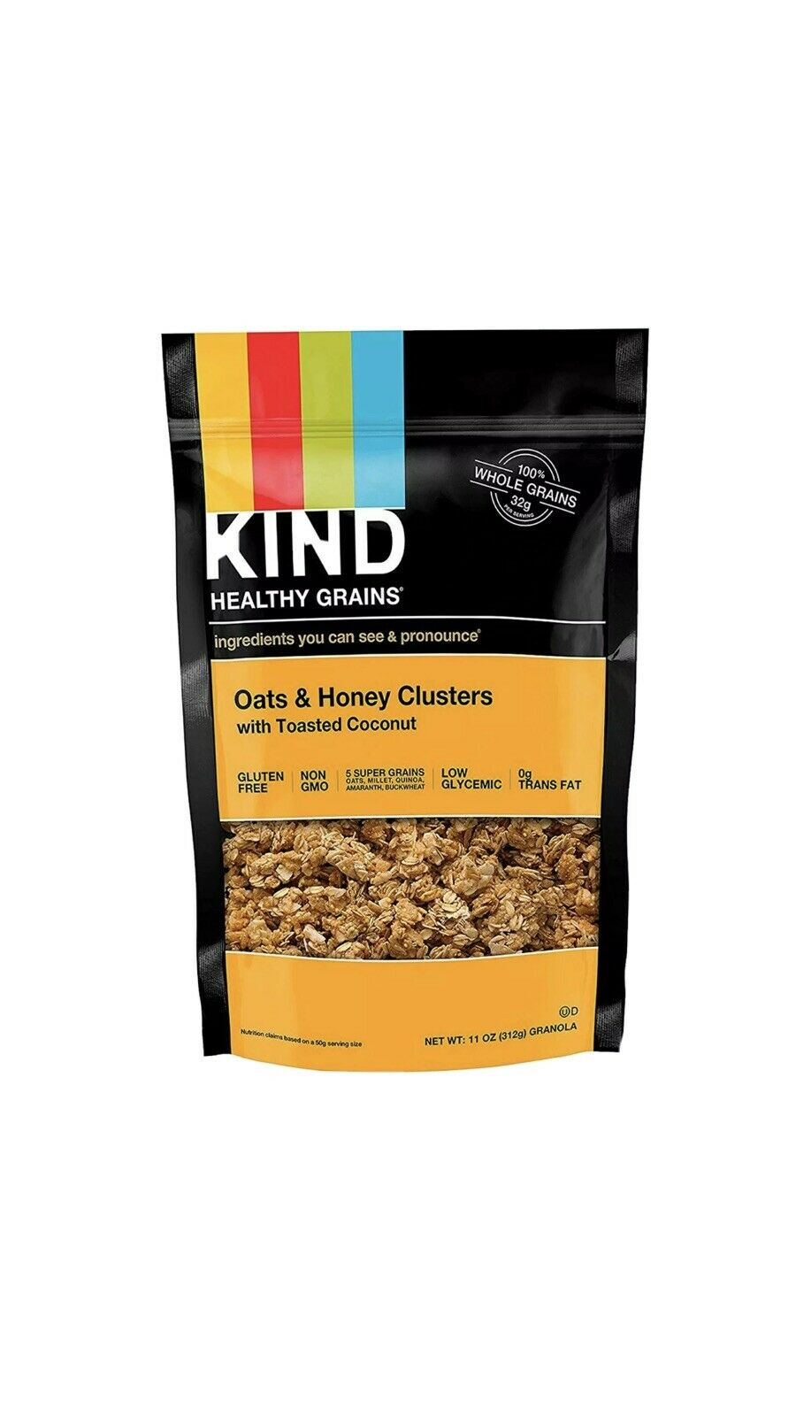 3 Healthy Grains Oats & Honey Clusters with Toasted Coconut, 11 oz Gluten Free