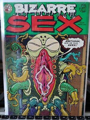 BIZARRE SEX #10 1982 UNDERGROUND COMIC BOOK MATURE READER