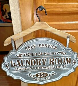 Galvanized-Metal-LAUNDRY-ROOM-SIGN-Primitive-French-Country-Home