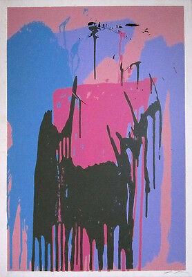 LARRY POONS Signed c. 1979 Original Color Silkscreen