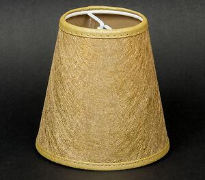 lampenschirm zum aufstecken gold gewebe e14 klemmschirm glitter effekt ebay. Black Bedroom Furniture Sets. Home Design Ideas