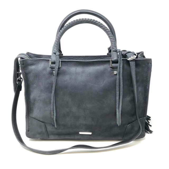 Rebecca Minkoff HF16ENFS31 Fringe Regan Satchel Black Women's Bag - New!