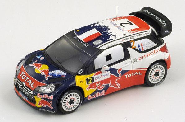 SPARK Citroen DS3 WRC  2 Winner Rally France 2011 Ogier - Ingrassia S3324 1 43