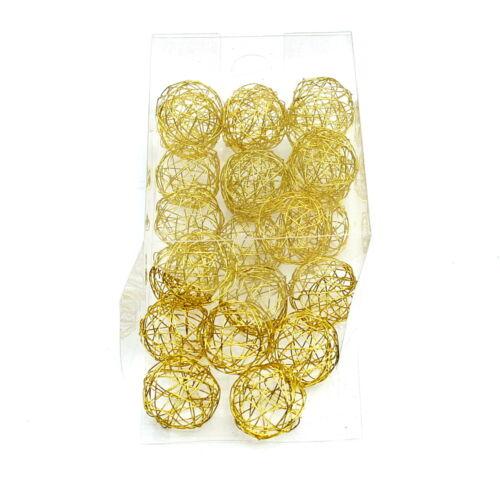 Dekokugeln 1,5cm//3cm//4cm fil Balles Sparbox!!! Fil boules en or