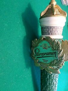 Very-Rare-Staropramen-Prague-Brick-Castle-Crown-11-5-Beer-Keg-Tap-Handle-Marker