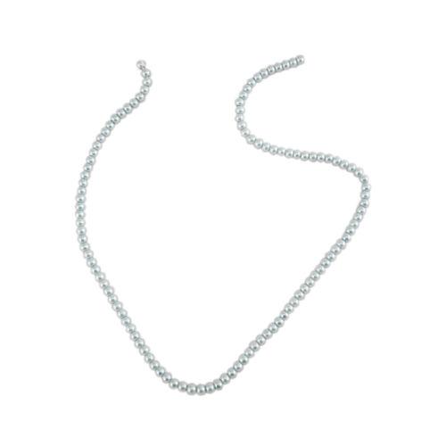 Chaîne de 4 mm argent perles de verre pour fabrication de bijoux-TPG 4 Argent