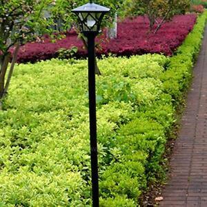 Black-LED-Solar-Powered-5-ft-Traditional-Garden-Lamp-Post-Lamppost-Lantern-Light