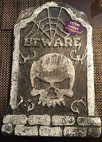 Halloween Tombstone Party Decoration Beware Skull Deco