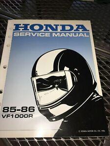 GENUINE-HONDA-SERVICE-SHOP-MANUAL-VF1000F-INTERCEPTOR-1985-86-RY9b