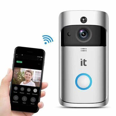 UK Stock IT Smart WiFi Door Bell Camera HD Video Wireless CCTV With Batteries