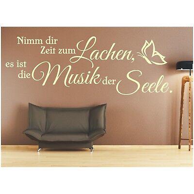 Dekoration Wandtattoo Spruch Zeit Lachen Musik Seele Wandsticker Wandaufkleber Sticker 2 Mobel Wohnen Ryscontrapesos Com