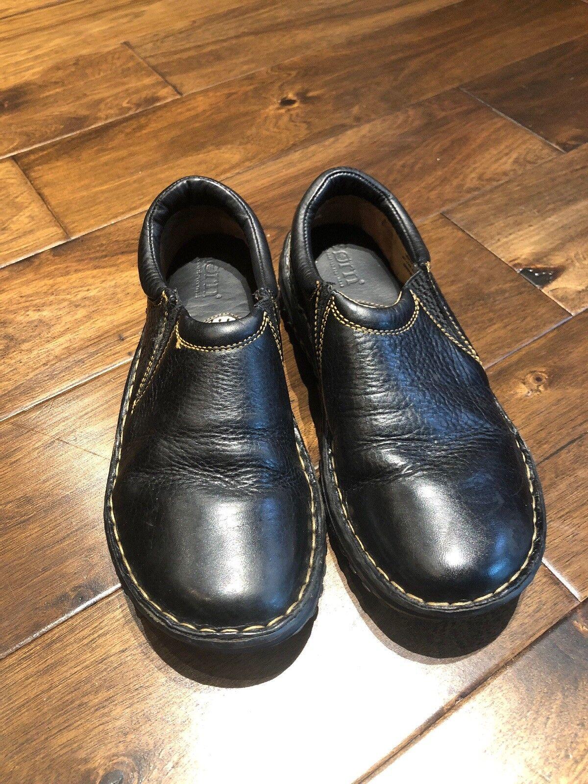 Born Black Leather Womans Womans Womans shoes Size 7 7ab153