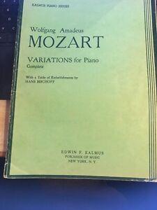 100% De Qualité Wolfgang Amadeus Mozart Variations Pour Piano Complet, Kalmus Piano Series-afficher Le Titre D'origine