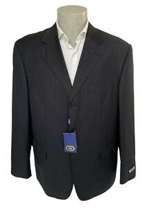 Giacca classica uomo DY, taglia 58 blu a righe in misto lana, sconto 70%.