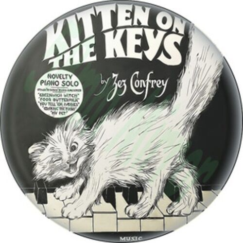 Kitten on the Keys Pocket MIRROR Vintage Piano Cat New