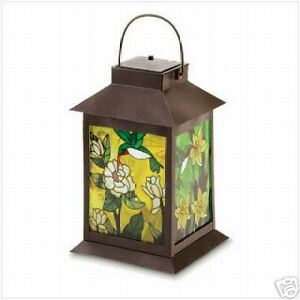 Image Is Loading Hummingbird Solar Tabletop Hanging Lantern Light 11 3