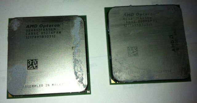 2x AMD Opteron 852 2.6GHz 940 CPU Processor OSA852FAA5BM