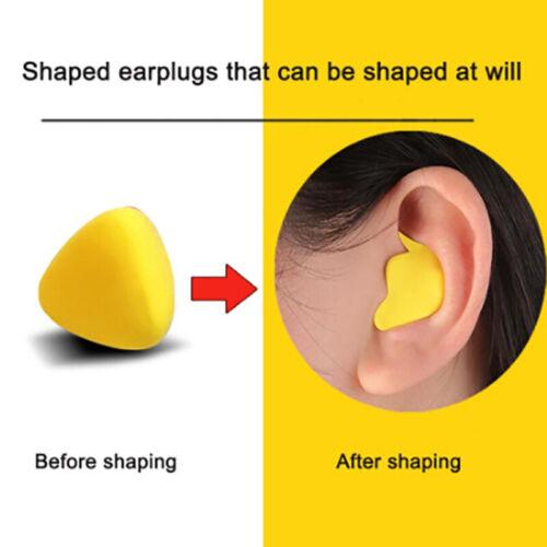 Moldable Shaped 60pcs//set PU Anti-noise Noise Reduction Sleep Aid Earplug ZB