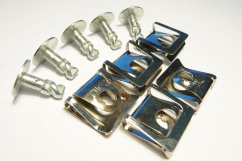 5x Sotto Copertura del Motore Undertray Montaggio Clip in Metallo a Vite Audi VW Skoda 8D0805121