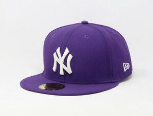 New-Era-59Fifty-Hat-New-York-Yankees-MLB-Mens-Dark-Purple-White-Fitted-Cap-5950