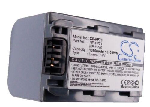 Dcr-dvd403 Premium Batería Para Sony Dcr-dvd905e Np-fp71 Dcr-dvd205e Dcr-hc17