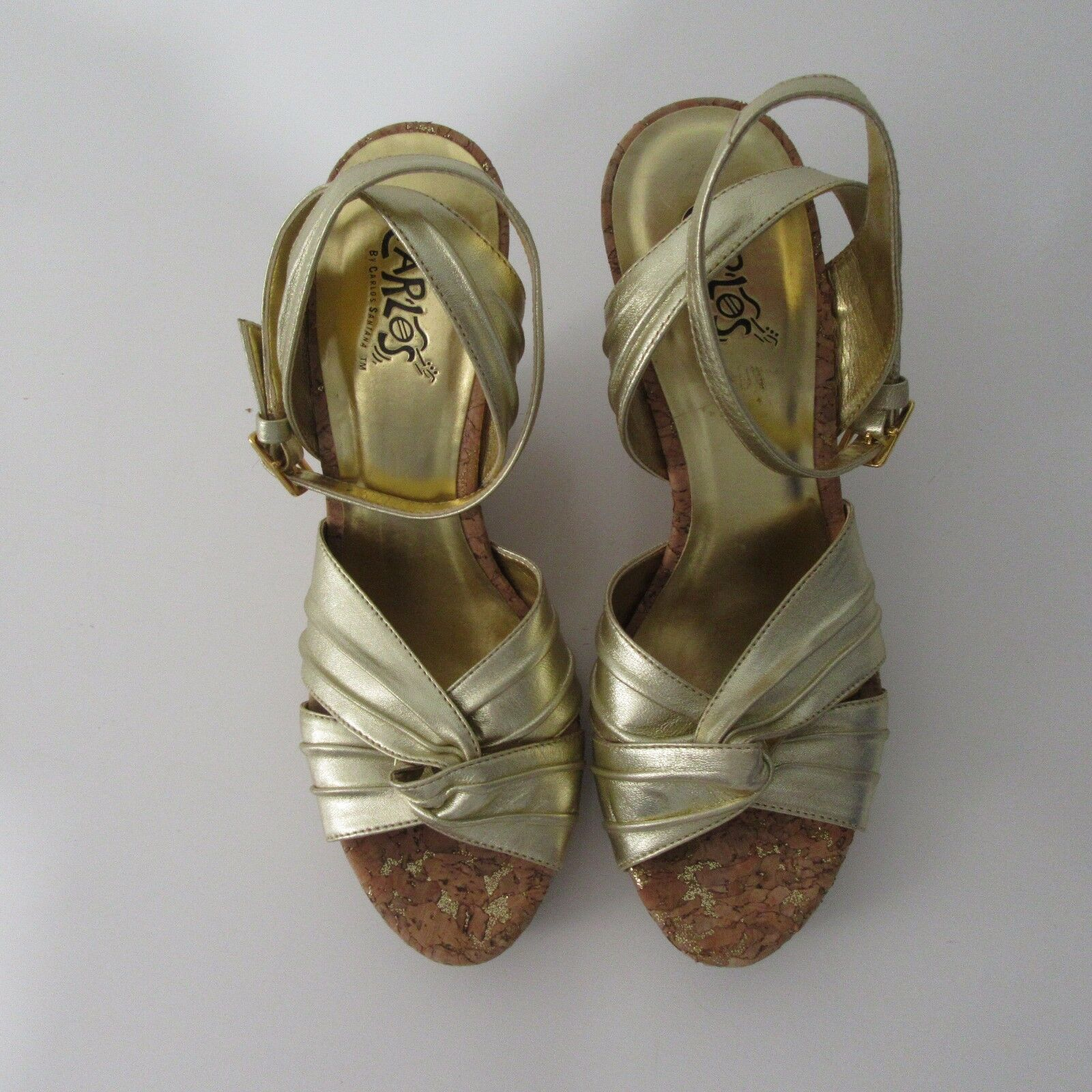 Carlos by Carlos Santana or Ripple open toe Wedge chaussures Taille 8 M