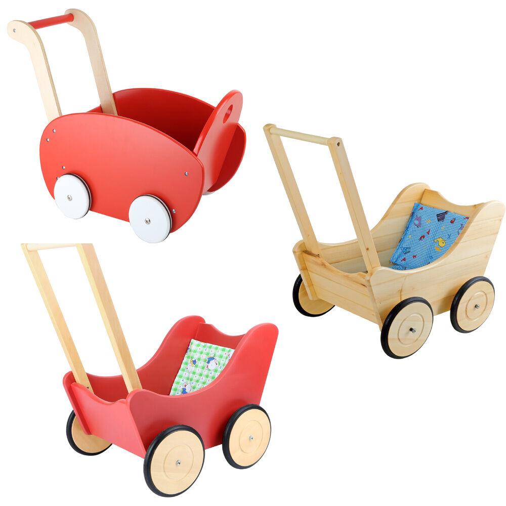Bambole Lauflern carrello legno bambini Nostalgia Nuovo Spingere STANZA classica