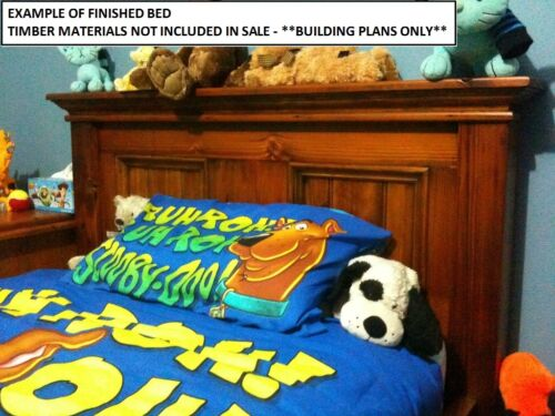 BUILDING PLANS FOR CRAFTON KING SIZE TIMBER BED MAKE YOUR OWN /& SAVE $$$