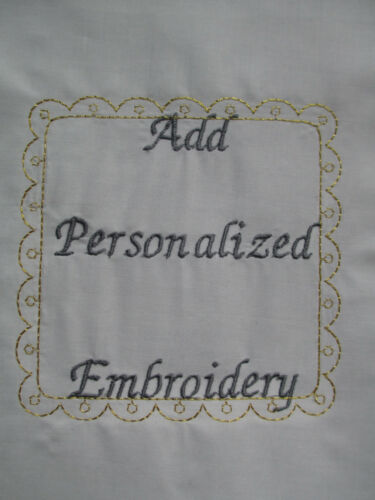 Girls//Boys Christening Baptism  Add Personalized  Embroidered  White  Satin Bibs