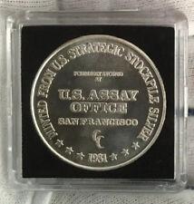 1 Troy oz  .999 Fine Silver BAR Bullion $1 One Dollar design  SB1J1
