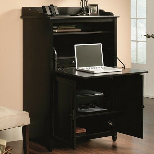 Computer Armoire Desk Cabinet Home Office Hutch Storage File Drawer Secretary