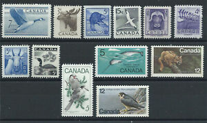 Canada-Lot-12-timbres-Neuf-MNH-1952-77-Faune-sauvage-lot-I