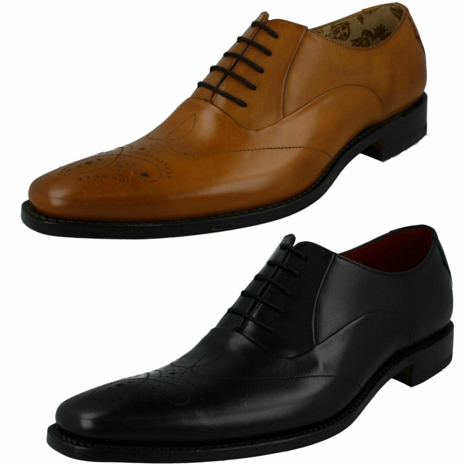 Homme Loake Smart Étroit Fit Lacets Chaussures en cuir Gunny