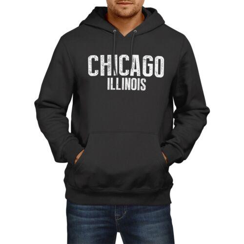 Chicago Illinois American State Hoodie Mens Womens Boys USA Girls Football Home