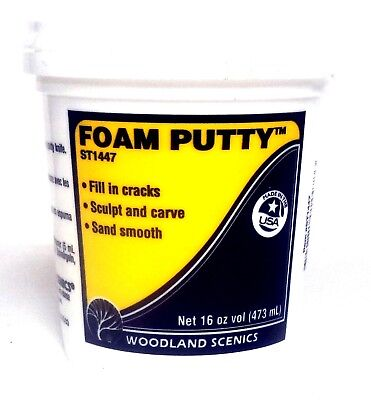 Woodland Scenics ~ general hobby RC Boats Foam Putty Pint WOOST1447